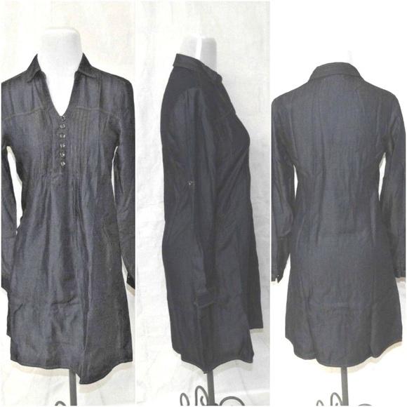 a908326a6f Womens Denim Dress Button Front Long Sleeve Pocket